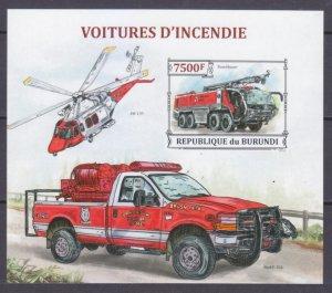 2013 Burundi 3302/B384b History of fire trucks 12,00 €