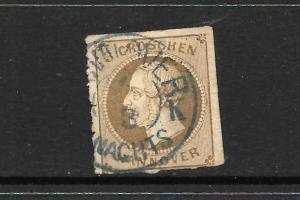 HANNOVER  1859-61  3gr   BROWN    FU     SG 29a   CV 90pds