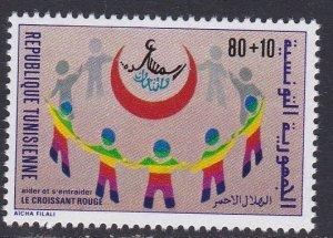 Tunisia # B154, Red Crescent Society, NH