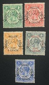 MOMEN: HONDURAS SG #138s-142s 1932 SPECIMEN MINT OG NH LOT #61247