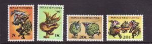 Papua New Guinea-Sc#336-9-unused NH set-1971-Siaa Dancers-