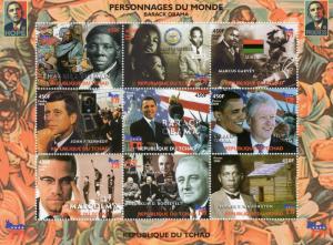 Chad 2008 Personalities of the World  Barack Obama/J.F.Kennedy/Clinton  Shlt (9)