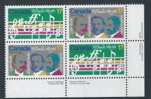 Canada #858a LR PL BL O Canada Centenary 17¢ MNH