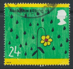 Great Britain  SG 1629  SC# 1463  Environment   Used see detail and scan