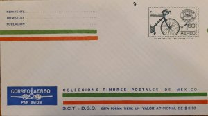 J) 1937 MEXICO, MEXICO EXPORT, BYCICLE, POSTAL STATIONARY, XF