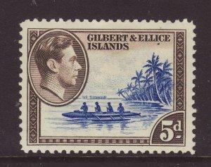 1939 Gilbert & Ellice Is 5d Mounted Mint SG49