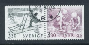 Sweden 1737 - 8 Used Attached Pair (11