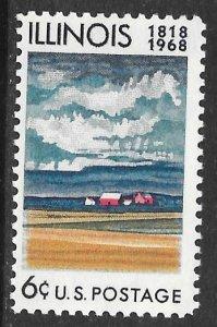 USA 1339: 6c Farm Buildings and Fields, MNH, VF