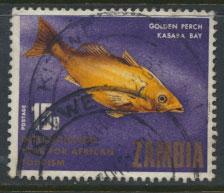 Zambia  SG 149 SC# 59   Tourism Perch Fish  Used see scan