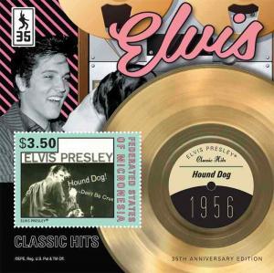 Micronesia - Elvis Presley - Hound Dog Stamp Souvenir Sheet MIC1213