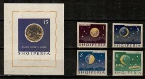 Albania Scott 740-44 Mint NH imperf (Catalog Value $35.00)