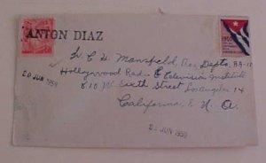 CUBA  ANTON DIAZ 1950 TO USA