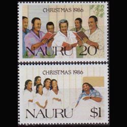NAURU 1986 - Scott# 329-30 Christmas Set of 2 NH
