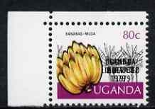 Uganda 1979 Uganda Liberated opt on 80c Bananas with opt ...