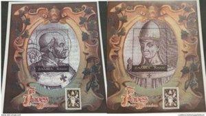 A) 2000, ZAMBIA, THE POPES OF THE MILLENNIUM, SOUVENIR SHEET, MULTICOLORED