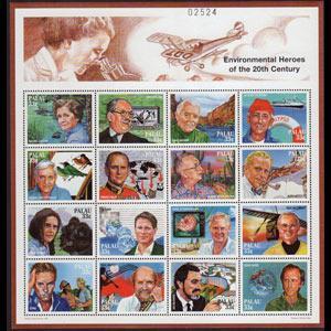 PALAU 1999 - Scott# 479 Sheet-Environmentalists NH