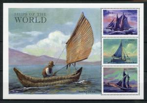 Uganda Nautical Stamps 1998 MNH Sailings Ships of World Boats 3v M/S