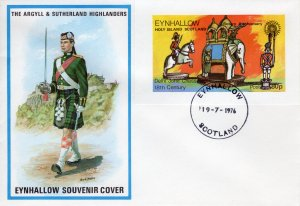Eynhallow 1976 Chess Pieces-Rotary International S/S  IMPERFORATED  FDC..