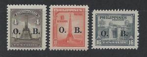 PHILIPPINES SC# O50-2 VF MNH 1948