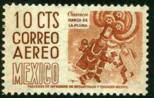 MEXICO C219, 10cents 1950 Definitive 2nd Printing wmk 300. MINT, NH. F-VF.