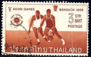 Netball, 5th Asian Games Bangkok 1966, Thailand SC#448 used