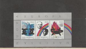 SAN MARINO 1243 SOUVENIR SHEET MNH 2019 SCOTT CATALOGUE VALUE $7.00