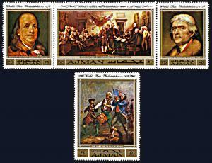 Ajman Michel 1028A-1031A, MNH, Proposed Philadelphia World's Fair