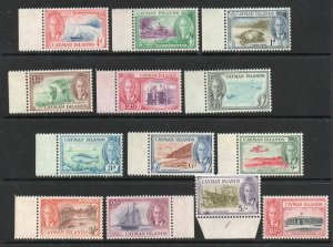Cayman Islands - SG# 135 - 142 MH (some rems) / Lot 0220064
