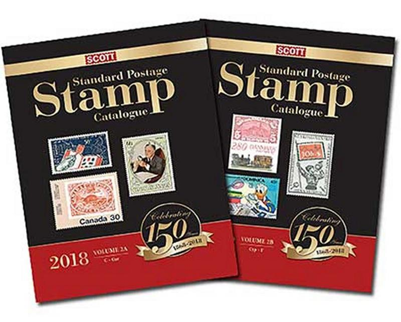 Scott Stamp Catalog 2018 Volume 2A & 2B - COUNTRIES C-F