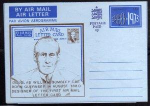 GUERNSEY GUERNESEY 1880 1973 AEROGRAM AEROGRAMME AEROGRAMMA POSTAL STATIONARY...