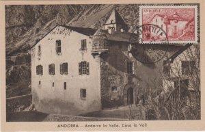 Andorra French Administration 8F La Maison des Vallees 1949 Andorre La Vieill...