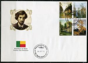BENIN  2018  RUSSIAN PAINTER  ISSAC LEVITAN   SET  OF  FOUR  FIRST DAY COVER