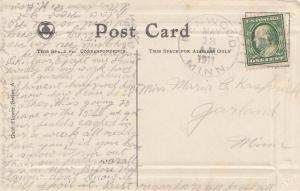 United States Minnesota Benwood 1911 doane 2/1  1904-1925  PC.