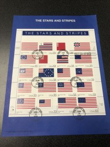 US FDC 2000 USPS Souvenir Page Stars and Stripes 20 Stamps Scott 3403  