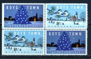 Boys Town Mint (NH) Block of 4 1960