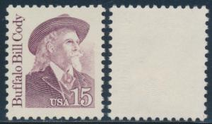 #2177d BUFFALO BILL CODY' ALL COLORS OMITTED MAJOR ERROR BR1786