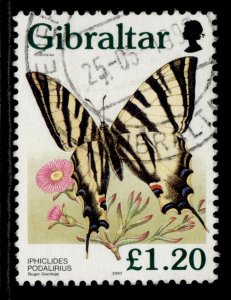 GIBRALTAR QEII SG807, 1997 £1.20 butterfly, FINE USED.