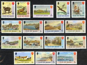 Isle of Man Sc# 12-27 MNH 1973 Definitives