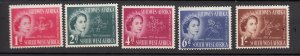 J26454  jlstamps 1953 south west africa set mlh #244-8 queen