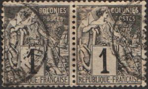French Colonies Scott 46 Used.