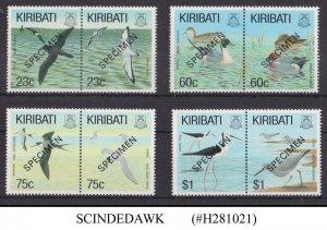 KIRIBATI - 1993 WATER BIRDS - 8V - MINT NH SPECIMEN