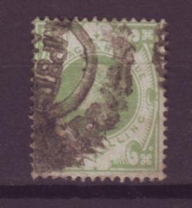 J13826 JLstamps 1887-92 great britain used #122 victoria $72.50 scv