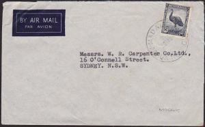 PAPUA NEW GUINEA 1950 cover Australia 5½d - MADANG cds......................2131