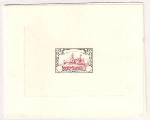 GERMANY: Kaiser Yacht design private pull greeting card VF SCARCE!