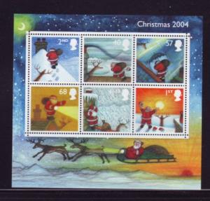 Great Britain Sc 2244 2004 Christmas stamp sheet mint NH