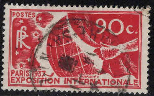 FRANCE Scott 319 Used 1937 Paris Expo stap