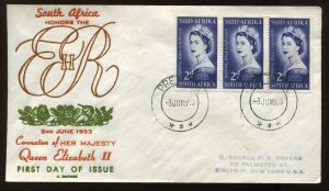 South Africa 1953 QEII cacheted Coronation cover