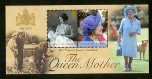 TRISTAN da CUNHA 717 S/S MNH SCV $9.00 BIN $5.50 QUEEN MOTHER