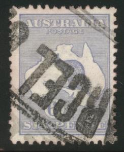 AUSTRALIA Scott 48 Kangeroo Map stamp 1915 CV$15 stained