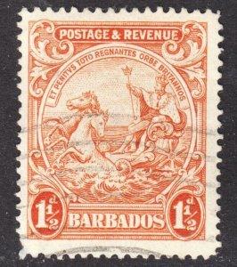 Barbados Scott 168b perf 14 F+ used.